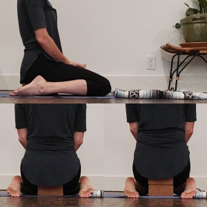 hips supported on blocks
