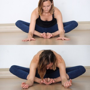 Butterfly Pose You Can Support Either Knee With Blocks If It Helps Alleviate Any Unnecessary Aches Here Fold Forward In Your Own Time Being Mindful